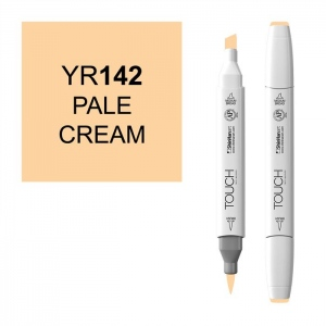 ShinHan Art TOUCH Twin Brush Pale Cream Marker: White, White/Ivory, Double-Ended, Alcohol-Based, Refillable, Dual, (model 1210142-YR142), price per each