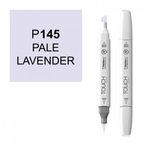 ShinHan Art TOUCH Twin Brush Pale Lavender Marker; Barrel Color: White; Color: Purple; Double-Ended: Yes; Ink Type: Alcohol-Based; Refillable: Yes; Tip Type: Dual; (model 1210145-P145), price per each