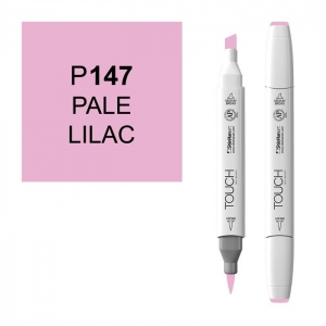 ShinHan Art TOUCH Twin Brush Pale Lilac Marker: White, Purple, Double-Ended, Alcohol-Based, Refillable, Dual, (model 1210147-P147), price per each
