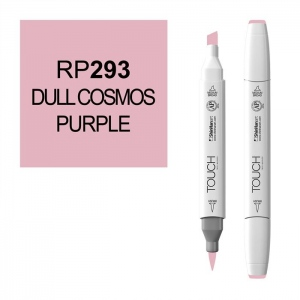 ShinHan Art TOUCH Twin Brush Dull Cosmos Purple Marker: White, Purple, Double-Ended, Alcohol-Based, Refillable, Dual, (model 1210293-RP293), price per each