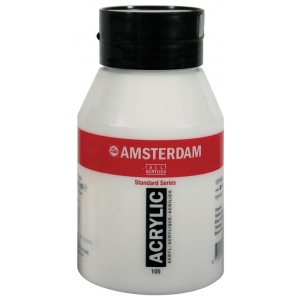 Royal Talens Amsterdam® All Acrylic Standard Series 500ml Titanium White: White/Ivory, Jar, 500 ml, Acrylic, (model 17721052), price per each