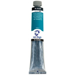 Royal Talens van Gogh® Oil Color 40ml Phthalo Turquoise Blue; Color: Blue; Format: Tube; Size: 40 ml; Type: Oil; (model 2055653), price per tube