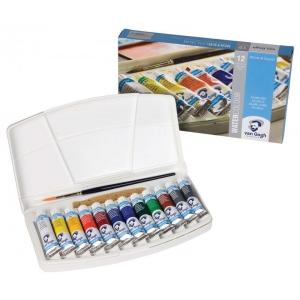 Royal Talens van Gogh® Watercolor 12-Color Tube Set; Color: Multi; Format: Tube; Size: 10 ml; Type: Watercolor; (model 20800112), price per each