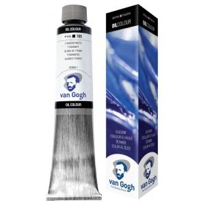 Royal Talens van Gogh® Oil Color 200ml Titanium White; Color: White/Ivory; Format: Tube; Size: 200 ml; Type: Oil; (model 2081053), price per tube