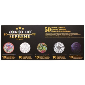 Sargent Art® Supreme Artist Pencils 50-Set: Assorted, Pencil, 50 Pencils, Art Kit, Drawing, (model 227295), price per each