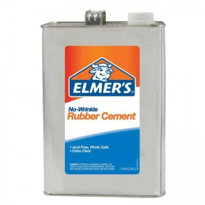 Elmer's® No-Wrinkle Rubber Cement 1gal; Size: 1 gal; (model 234), price per each
