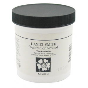 Daniel Smith Watercolor Ground 16oz Titanium White: White/Ivory, Jar, 16 oz, Watercolor, (model 284055001), price per each