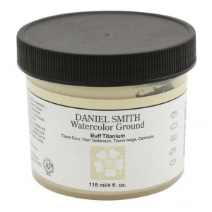 Daniel Smith Watercolor Ground 4oz Buff Titanium; Color: Brown; Format: Jar; Size: 4 oz; Type: Watercolor; (model 284055005), price per each