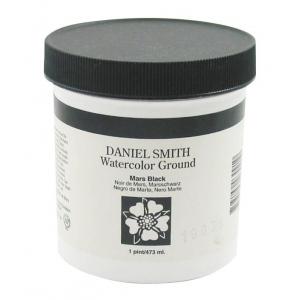 Daniel Smith Watercolor Ground 16oz Mars Black; Color: Black/Gray; Format: Jar; Size: 16 oz; Type: Watercolor; (model 284055006), price per each