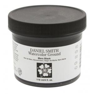 Daniel Smith Watercolor Ground 4oz Mars Black; Color: Black/Gray; Format: Jar; Size: 4 oz; Type: Watercolor; (model 284055007), price per each