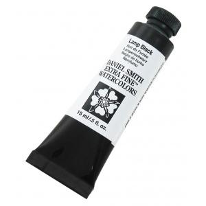 Daniel Smith Extra Fine™ Watercolor 15ml Lamp Black: Black/Gray, Tube, 15 ml, Watercolor, (model 284600003), price per tube
