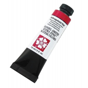 Daniel Smith Extra Fine™ Watercolor 15ml Anthraquinoid Red: Red/Pink, Tube, 15 ml, Watercolor, (model 284600005), price per tube