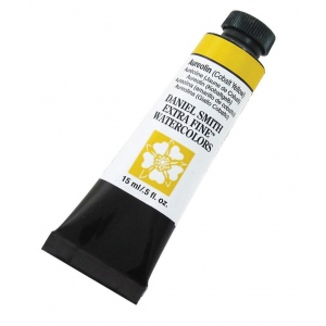 Daniel Smith Extra Fine™ Watercolor 15ml Aureolin Cobalt Yellow; Color: Yellow; Format: Tube; Size: 15 ml; Type: Watercolor; (model 284600006), price per tube