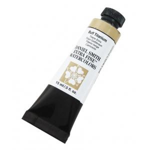 Daniel Smith Extra Fine™ Watercolor 15ml Buff Titanium; Color: Brown; Format: Tube; Size: 15 ml; Type: Watercolor; (model 284600009), price per tube
