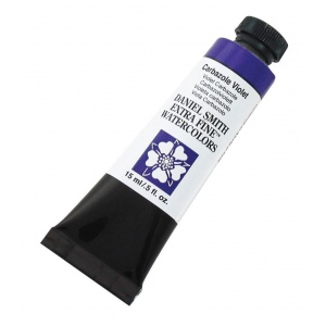Daniel Smith Extra Fine™ Watercolor 15ml Carbazole Violet; Color: Purple; Format: Tube; Size: 15 ml; Type: Watercolor; (model 284600019), price per tube