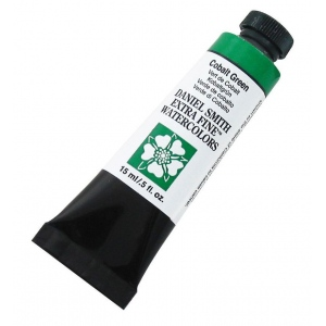 Daniel Smith Extra Fine™ Watercolor 15ml Cobalt Green: Green, Tube, 15 ml, Watercolor, (model 284600026), price per tube