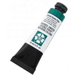 Daniel Smith Extra Fine™ Watercolor 15ml Cobalt Green Pale; Color: Green; Format: Tube; Size: 15 ml; Type: Watercolor; (model 284600027), price per tube