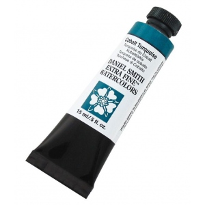 Daniel Smith Extra Fine™ Watercolor 15ml Cobalt Turquoise: Blue, Tube, 15 ml, Watercolor, (model 284600029), price per tube