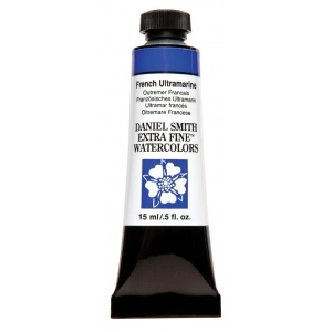 Daniel Smith Extra Fine™ Watercolor 15ml French Ultramarine; Color: Blue; Format: Tube; Size: 15 ml; Type: Watercolor; (model 284600034), price per tube