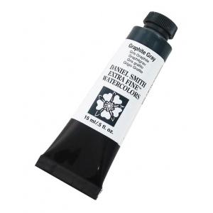 Daniel Smith Extra Fine™ Watercolor 15ml Graphite Gray: Black/Gray, Tube, 15 ml, Watercolor, (model 284600038), price per tube