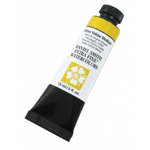 Daniel Smith Extra Fine™ Watercolor 15ml Hansa Yellow Medium; Color: Yellow; Format: Tube; Size: 15 ml; Type: Watercolor; (model 284600039), price per tube