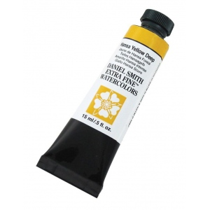 Daniel Smith Extra Fine™ Watercolor 15ml Hansa Yellow Deep; Color: Yellow; Format: Tube; Size: 15 ml; Type: Watercolor; (model 284600040), price per tube