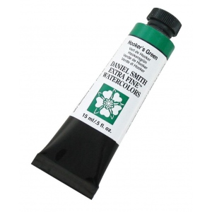 Daniel Smith Extra Fine™ Watercolor 15ml Hooker's Green; Color: Green; Format: Tube; Size: 15 ml; Type: Watercolor; (model 284600042), price per tube