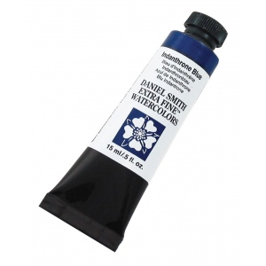Daniel Smith Extra Fine™ Watercolor 15ml Indanthrone Blue; Color: Blue; Format: Tube; Size: 15 ml; Type: Watercolor; (model 284600043), price per tube