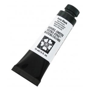 Daniel Smith Extra Fine™ Watercolor 15ml Ivory Black; Color: Black/Gray; Format: Tube; Size: 15 ml; Type: Watercolor; (model 284600048), price per tube