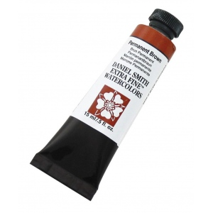 Daniel Smith Extra Fine™ Watercolor 15ml Permanent Brown; Color: Brown; Format: Tube; Size: 15 ml; Type: Watercolor; (model 284600068), price per tube
