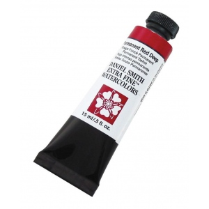 Daniel Smith Extra Fine™ Watercolor 15ml Permanent Red Deep; Color: Red/Pink; Format: Tube; Size: 15 ml; Type: Watercolor; (model 284600069), price per tube