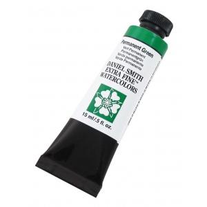 Daniel Smith Extra Fine™ Watercolor 15ml Permanent Green; Color: Green; Format: Tube; Size: 15 ml; Type: Watercolor; (model 284600070), price per tube