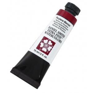 Daniel Smith Extra Fine™ Watercolor 15ml Perylene Maroon: Red/Pink, Tube, 15 ml, Watercolor, (model 284600074), price per tube