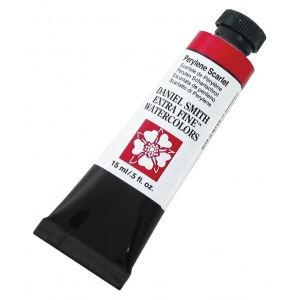 Daniel Smith Extra Fine™ Watercolor 15ml Perylene Scarlet: Red/Pink, Tube, 15 ml, Watercolor, (model 284600076), price per tube
