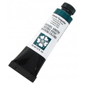 Daniel Smith Extra Fine™ Watercolor 15ml Phthalo Turquoise: Blue, Tube, 15 ml, Watercolor, (model 284600080), price per tube