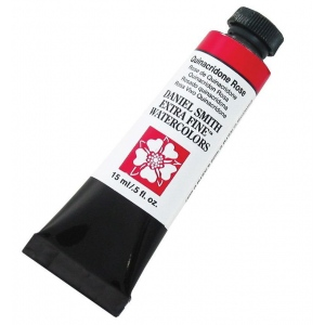 Daniel Smith Extra Fine™ Watercolor 15ml Quinacridone Rose: Red/Pink, Tube, 15 ml, Watercolor, (model 284600092), price per tube