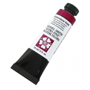 Daniel Smith Extra Fine™ Watercolor 15ml Quinacridone Violet; Color: Purple; Format: Tube; Size: 15 ml; Type: Watercolor; (model 284600094), price per tube