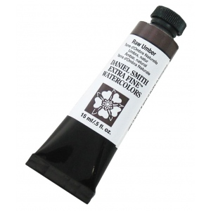 Daniel Smith Extra Fine™ Watercolor 15ml Raw Umber: Brown, Tube, 15 ml, Watercolor, (model 284600097), price per tube
