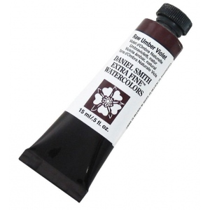 Daniel Smith Extra Fine™ Watercolor 15ml Raw Umber Violet; Color: Purple; Format: Tube; Size: 15 ml; Type: Watercolor; (model 284600098), price per tube