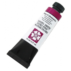 Daniel Smith Extra Fine™ Watercolor 15ml Rose of Ultramarine; Color: Purple; Format: Tube; Size: 15 ml; Type: Watercolor; (model 284600101), price per tube