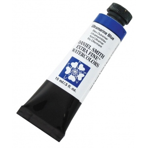 Daniel Smith Extra Fine™ Watercolor 15ml Ultramarine Blue; Color: Blue; Format: Tube; Size: 15 ml; Type: Watercolor; (model 284600106), price per tube