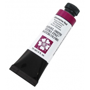Daniel Smith Extra Fine™ Watercolor 15ml Ultramarine Red; Color: Red/Pink; Format: Tube; Size: 15 ml; Type: Watercolor; (model 284600107), price per tube