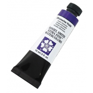 Daniel Smith Extra Fine™ Watercolor 15ml Ultramarine Violet: Purple, Tube, 15 ml, Watercolor, (model 284600108), price per tube