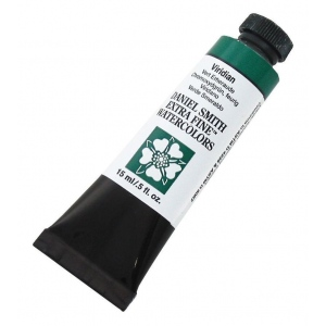 Daniel Smith Extra Fine™ Watercolor 15ml Viridian; Color: Green; Format: Tube; Size: 15 ml; Type: Watercolor; (model 284600112), price per tube