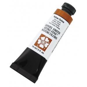 Daniel Smith Extra Fine™ Watercolor 15ml Yellow Ochre; Color: Yellow; Format: Tube; Size: 15 ml; Type: Watercolor; (model 284600114), price per tube