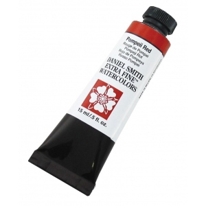 Daniel Smith Extra Fine™ Watercolor 15ml Pompeii Red; Color: Red/Pink; Format: Tube; Size: 15 ml; Type: Watercolor; (model 284600116), price per tube
