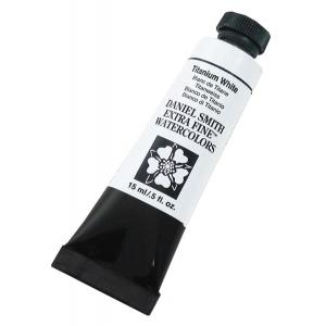 Daniel Smith Extra Fine™ Watercolor 15ml Titanium White: White/Ivory, Tube, 15 ml, Watercolor, (model 284600118), price per tube