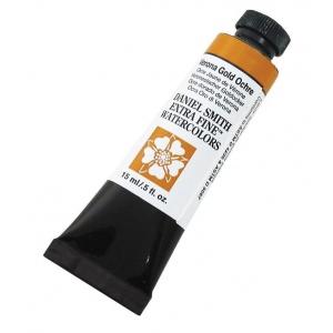 Daniel Smith Extra Fine™ Watercolor 15ml Verona Gold Ochre; Color: Yellow; Format: Tube; Size: 15 ml; Type: Watercolor; (model 284600123), price per tube
