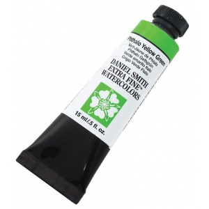Daniel Smith Extra Fine™ Watercolor 15ml Phthalo Yellow Green; Color: Green; Format: Tube; Size: 15 ml; Type: Watercolor; (model 284600124), price per tube