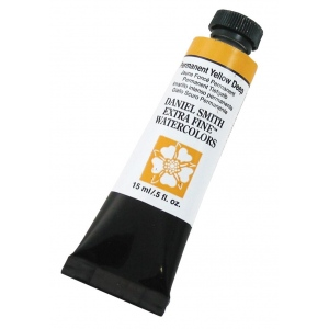Daniel Smith Extra Fine™ Watercolor 15ml Permanent Yellow Deep; Color: Yellow; Format: Tube; Size: 15 ml; Type: Watercolor; (model 284600133), price per tube